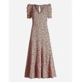 リフォーメーション REFORMATION レディース ワンピース ワンピース・ドレス Cosa leopard-print crepe dress Pink panther