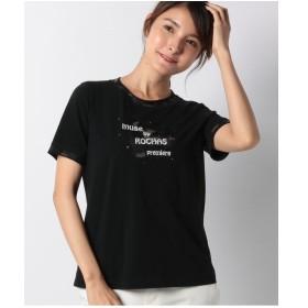 レリアンプラスハウス 【MUSE BY ROCHAS Premiere】ロゴ刺繍Tシャツ(ブラック)