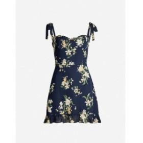 リフォーメーション REFORMATION レディース ワンピース ワンピース・ドレス Christine floral-print crepe mini dress Yolanda