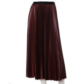 INED L / イネド(エルサイズ) 《大きいサイズ》レザー風プリーツスカート