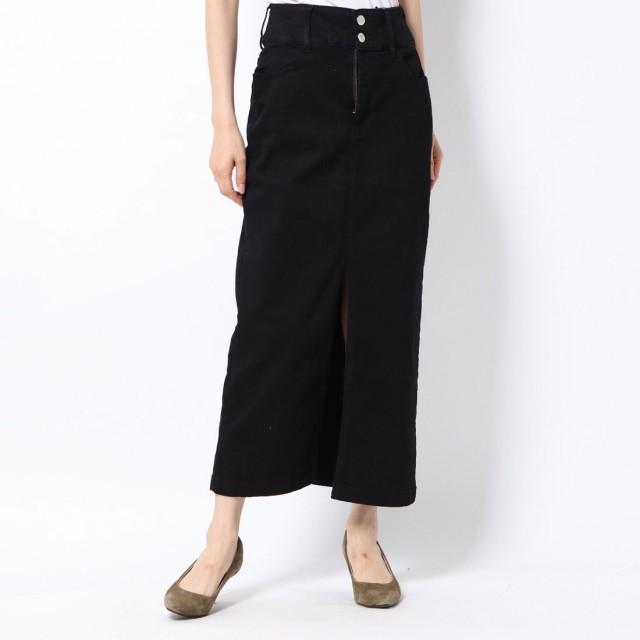 ロイヤルパーティー ROYAL PARTY デニムロングタイトスカート (ブラック)