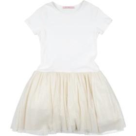 《期間限定 セール開催中》MISS BLUMARINE ガールズ 3-8 歳 ワンピース&ドレス アイボリー 8 コットン 90% / ポリウレタン 10%