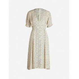 フェイスフルザブランド FAITHFULL THE BRAND レディース ワンピース ワンピース・ドレス Farah floral-print rayon dress Vintage yello