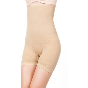 Hioffer(ハイオフア)ハイウエスト 加圧骨盤補正 スパッツ ロングガードル 補正下着 美尻パンツ 産後ケア 女性用 ヒップアップ 骨盤矯正 ショーツ XS/S ベージュ