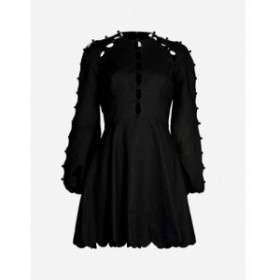 ジマーマン ZIMMERMANN レディース ワンピース ワンピース・ドレス Goldie scalloped linen and cotton-blend mini dress Black