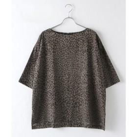 MARcourt / マーコート leopard wide shirt PO