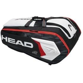 ヘッド(HEAD) テニス ラケットバッグ DJOKOVIC 12R MONSTERCOMBI ジョコビッチ 12R ブラック×ホワイト 283008 テニス用品 ツアーバッグ 遠征 12本収納