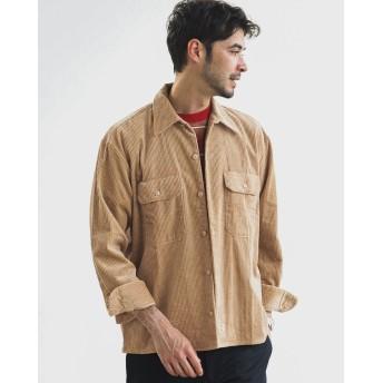 グリーンレーベルリラクシング 別注 [ディッキーズ] SC DICKIES GLR6W コーデュロイ CPOシャツ メンズ BEIGE S 【green label relaxing】