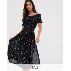 ブレイブソウル Brave Soul Tall レディース ワンピース ワンピース・ドレス bardot midi dress Navy