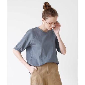 オーバーサイズラグランスリーブコットンTシャツ