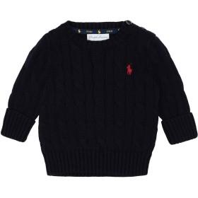 《期間限定セール開催中!》RALPH LAUREN ボーイズ 0-24 ヶ月 プルオーバー ダークブルー 3 コットン 100% Cable-Knit Cotton Sweater
