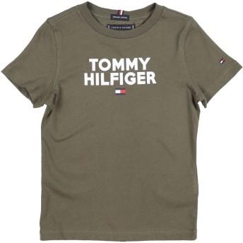 《期間限定 セール開催中》TOMMY HILFIGER ボーイズ 3-8 歳 T シャツ ミリタリーグリーン 4 コットン 100%