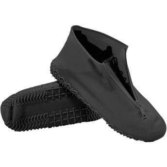 [AMACHAHGG] シューズカバー 防水 シリコン アウトドア防水靴カバー 雨 泥避け 雨具 シリコンシューカバー 携帯便利 男女兼用 サイズ:L