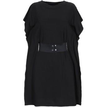 《セール開催中》MM6 MAISON MARGIELA レディース ミニワンピース&ドレス ブラック S 85% コットン 15% ポリウレタン