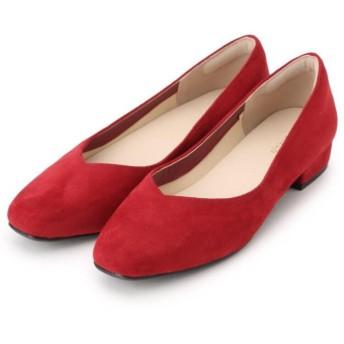 【20%OFF】 ピンクアドベ お客様の声をもとに作った『足に優しい』フラットパンプス レディース レッド(064) 45(24.5cm) 【pink adobe】 【セール開催中】