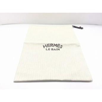 エルメス HERMES ポーチ レディース 美品 - アイボリー 巾着型/ノベルティ キャンバス【中古】20190820