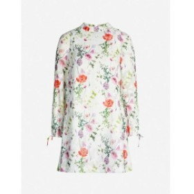 テッドベーカー TED BAKER レディース ワンピース ワンピース・ドレス Floral-print crepe dress White