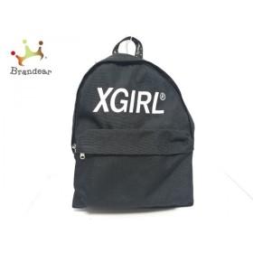 エックスガール X-GIRL リュックサック 黒 キャンバス 新着 20190822
