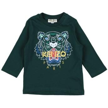 《9/20まで! 限定セール開催中》KENZO ボーイズ 0-24 ヶ月 T シャツ ダークグリーン 6 コットン 100%