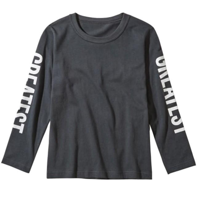 綿100%袖プリント長袖Tシャツ(男の子 子供服。ジュニア服) Tシャツ・カットソー