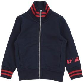 《セール開催中》DIESEL ボーイズ 3-8 歳 スウェットシャツ ダークブルー 4 コットン 100% / ポリエステル