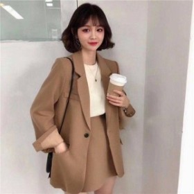 韓国 スーツ レディース ジャケット+ショート丈スカート セットアップ セレモニー スーツ 大きいサイズ レディース フォーマル 通勤