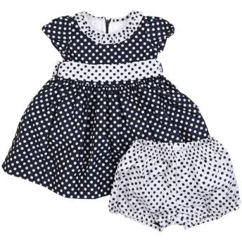 《セール開催中》MONNALISA ガールズ 0-24 ヶ月 ワンピース・ドレス ダークブルー 12 ポリエステル 100% / ナイロン