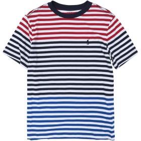 《期間限定 セール開催中》RALPH LAUREN ボーイズ 9-16 歳 T シャツ レッド 10 コットン 100% Striped Cotton Jersey Tee