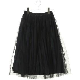 テチチ テラス アウトレット Te chichi TERRASSE outlet チュール×チェックギャザースカート (ブラック)