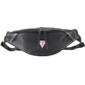 ゲス GUESS IN FLIGHT WAIST BAG (BLACK)