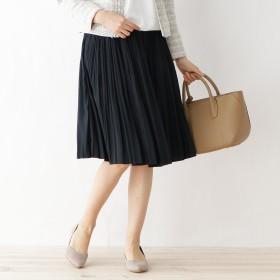 Dessin(Ladies)(デッサン:レディース)/【ウエストゴム】パウダーサテン プリーツスカート