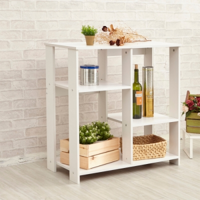H&R安室家 廚房 客廳 玄關 木質收納櫃 80X40X81.5cm BCF41