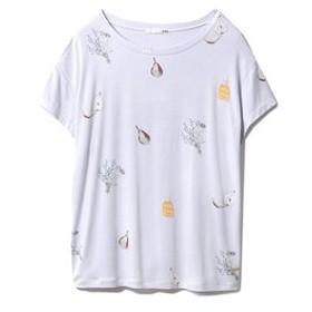 【gelato pique:アンダーウエア・部屋着】BREATHING Tシャツ