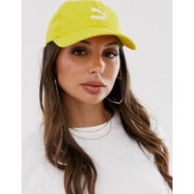 プーマ レディース 帽子 アクセサリー Puma Archive cotton mustard cap Yellow