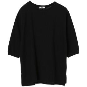 【オンワード】 koe(コエ) ワッフル7分袖プルオーバー Black F レディース 【送料無料】