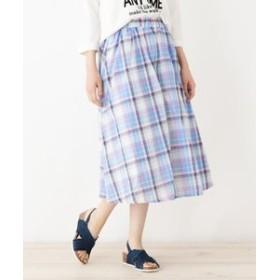 【SHOO・LA・RUE:スカート】◆マドラスチェックスカート