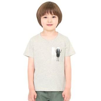 【グラニフ:トップス】グラニフ Tシャツ キッズ 男の子 女の子 半袖 子供服 クリアポケットショートスリーブティー(ビューティフルシャドーポケット)