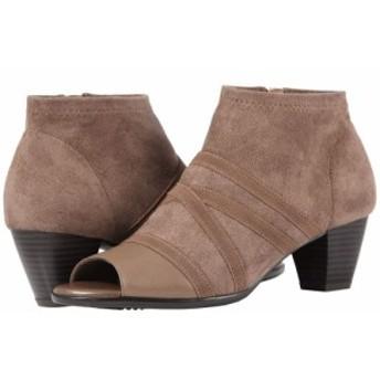 トロッターズ Trotters レディース ブーツ シューズ・靴 Maris Taupe Soft Nappa Leather/Stretch Textile