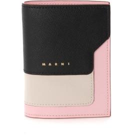 MARNI レザー二つ折り財布 財布,ブラック