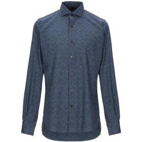 《9/20まで! 限定セール開催中》ORIAN メンズ シャツ ダークブルー 38 コットン 100%