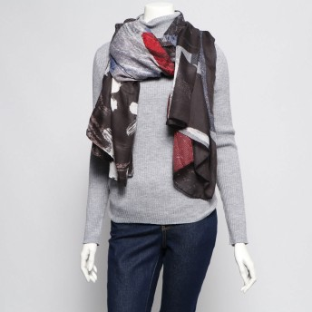 デシグアル Desigual 長方形スカーフ ROOTS (グレー/ブラック)