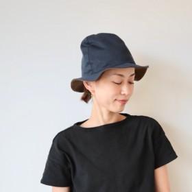 Mountain reversible hat / navy× brown