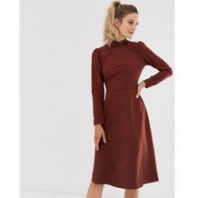 クローゼットロンドン Closet London レディース ワンピース ワンピース・ドレス Closet long sleeve high neck dress Rust