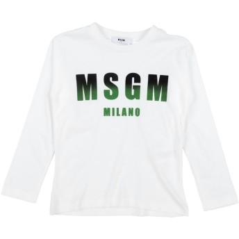 《9/20まで! 限定セール開催中》MSGM ボーイズ 9-16 歳 T シャツ ホワイト 12 コットン 100%