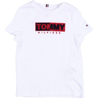 《期間限定 セール開催中》TOMMY HILFIGER ボーイズ 3-8 歳 T シャツ ホワイト 7 コットン 100%