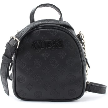GUESS ゲス JANELLE LOGO-DEBOSSED MINI CROSSBODY BAG