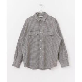 センスオブプレイス ガンクラブチェックビッグポケットシャツ メンズ BEIGE M 【SENSE OF PLACE】