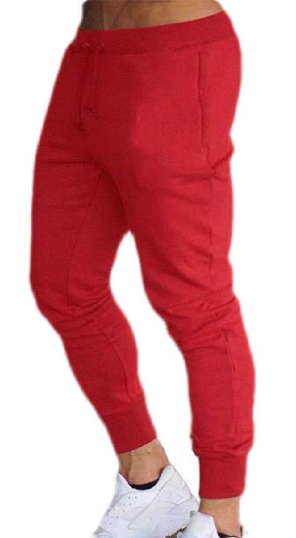 Keaac Mens Pant Basic Jogger Sweatpants Joggers Elastic Waist Pants