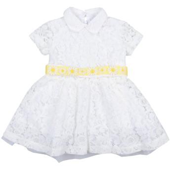 《セール開催中》MALIE ガールズ 0-24 ヶ月 ワンピース・ドレス ホワイト 3 72% コットン 28% ナイロン