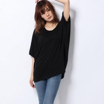 アムールボックス AMOUR BOX Tシャツ カットソー ドルマン 新作 2019 SS 春夏 令和 元年新作 ドルマンカットソー (ブラック)